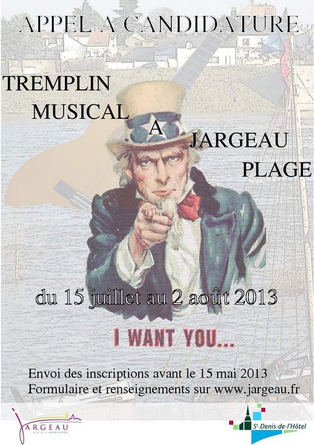 Jargeau plage 2013 Tremplin musical